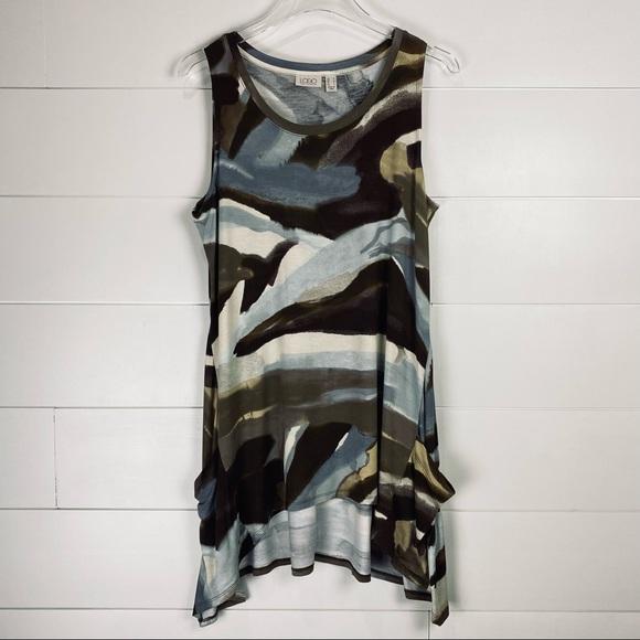 LOGO by Lori Goldstein abstract tunic tank top